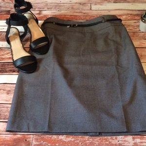 💢 new💢 Liz Claiborne black belted career skirt